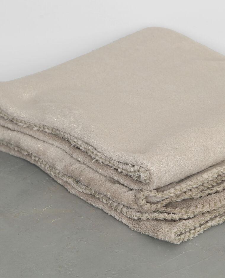plaid en polaire paillet beige 955054e03a07 pimkie. Black Bedroom Furniture Sets. Home Design Ideas