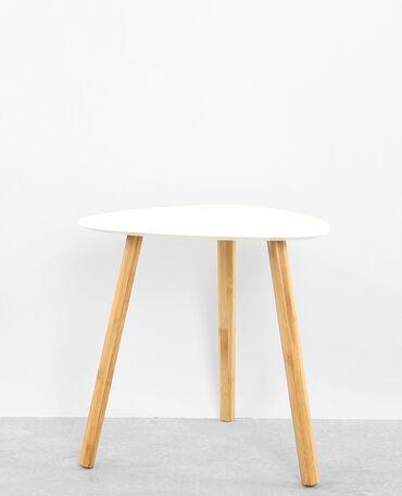 Kleiner Dreibein-Tisch Altweiß