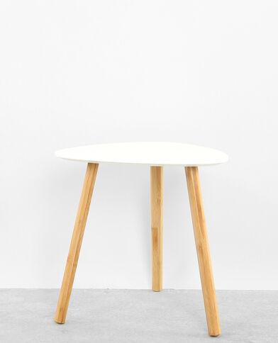 Tavolino con 3 gambe bianco sporco