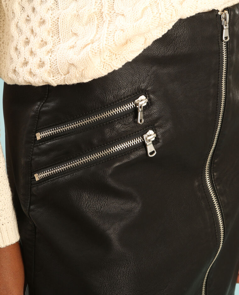 Jupe rock zippé noir