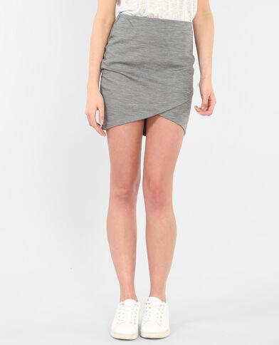 Minifalda bodycon gris