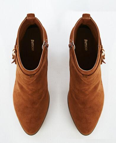 Botas de tacón marrón