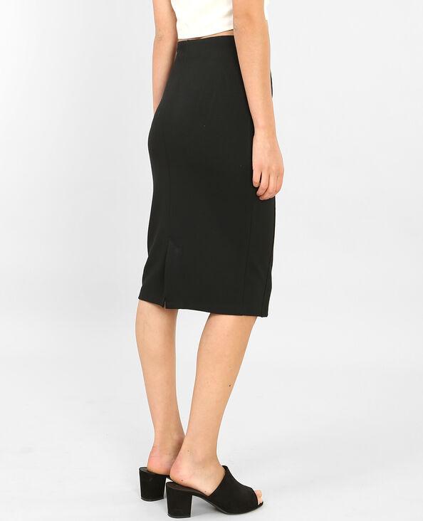 Falda midi bodycon negro