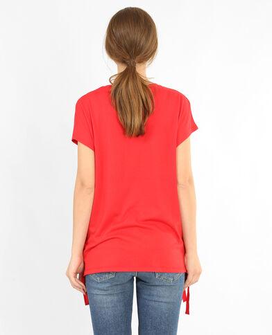 T-Shirt mit Schnürung Rot