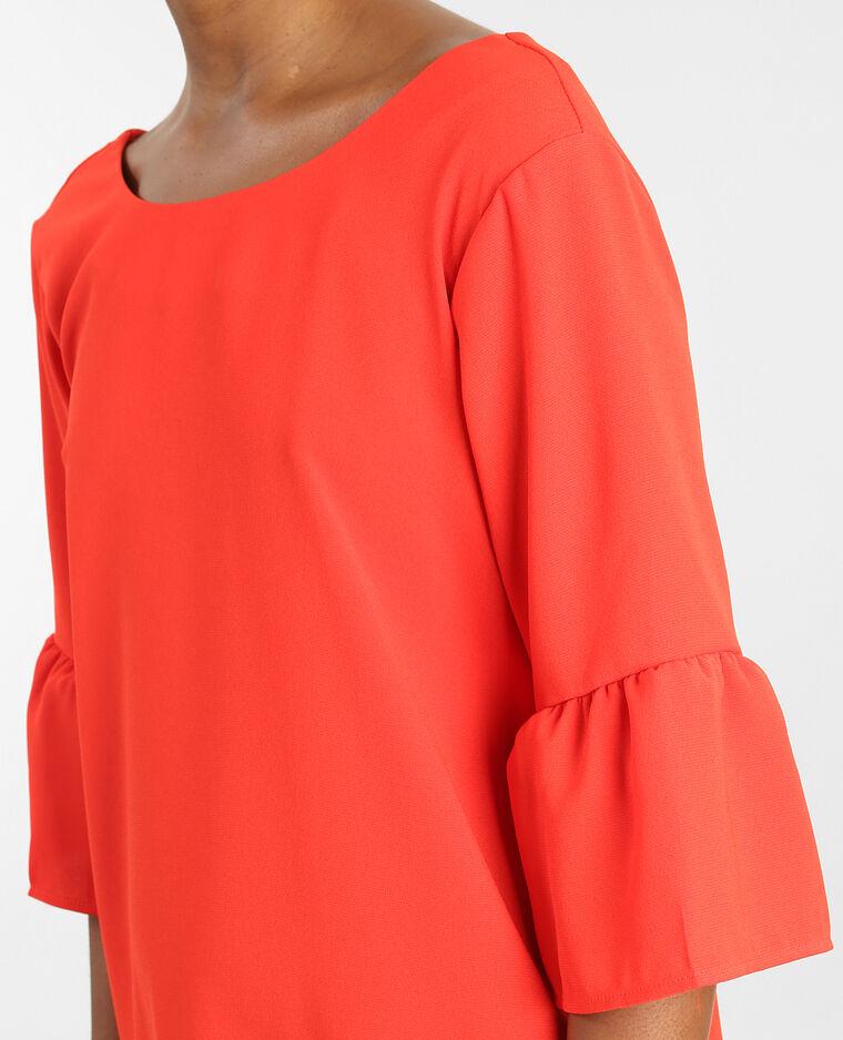 Kleid mit Pagoden-Ärmeln Rot