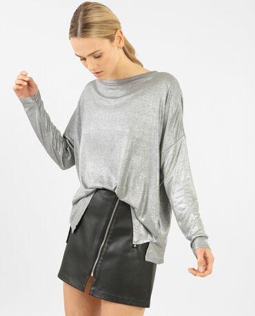 Pullover in Silbergrau Grau