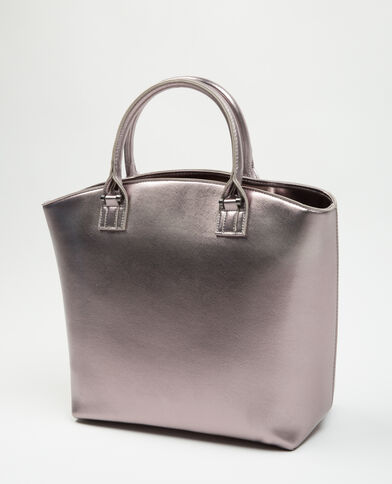 Grand sac rigide gris