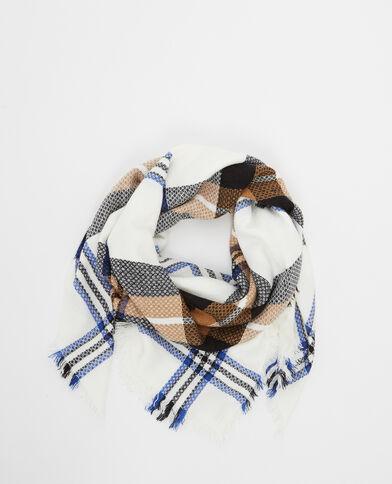Schal mit Karomuster Blau