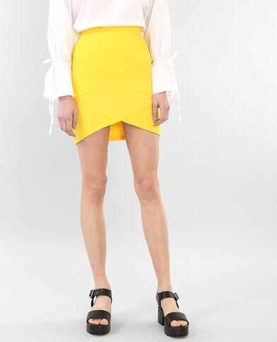 Mini jupe bodycon moutarde