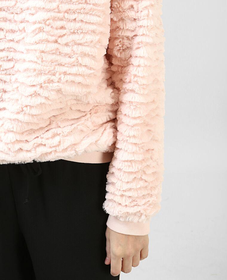 Sudadera de pelo rosa