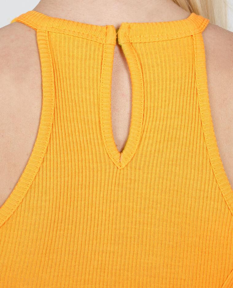 Trapez-Kleid Gelb