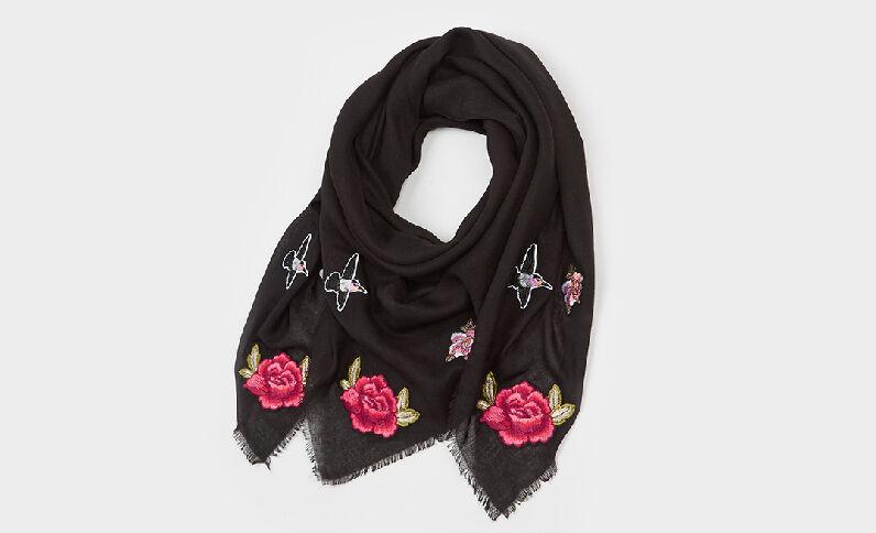 Foulard à patchs noir