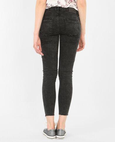 Jeans skinny grigio delavato