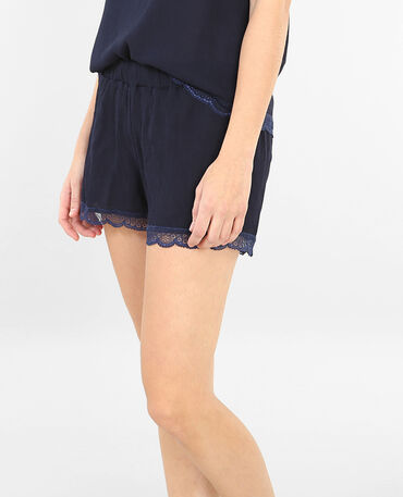 Short homewear pizzo blu