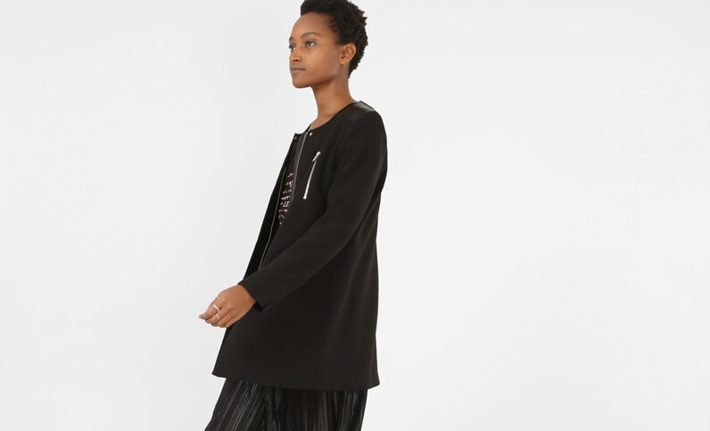 Summercoat bimatière noir