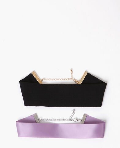 Lot de chokers noir