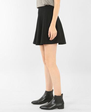 Tellerrock aus Jersey Schwarz