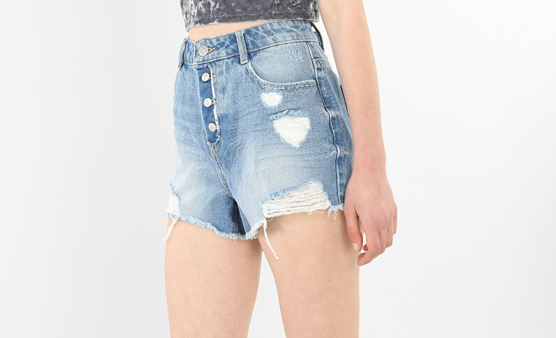 Short en jean destoy bleu