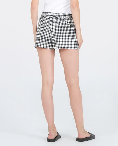 Short homewear vichy noir