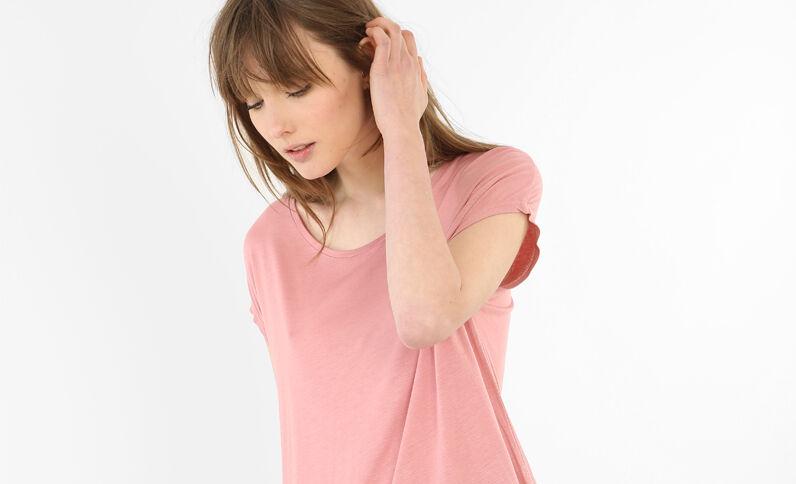 T-shirt lunga rosa