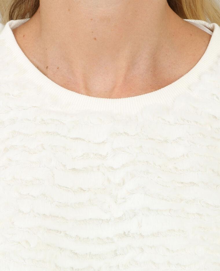 Jersey de pelo marfil