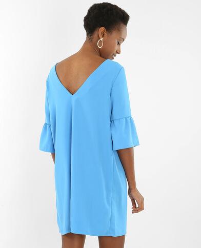 Vestido manga pagoda azul