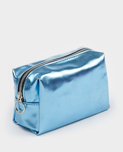 Metallic make-uptasje zeeblauw
