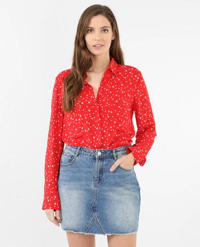 Camicia morbida stelle Rosso