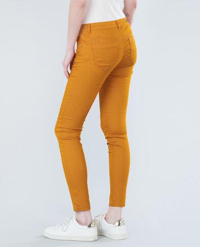 Pantalon skinny jaune moutarde