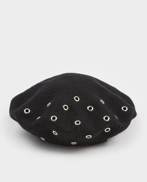 Baret met ringetjes zwart