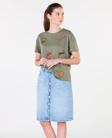 T-Shirts mit Patches Grün