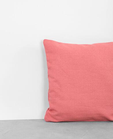 Federa per cuscino in cotone rosa