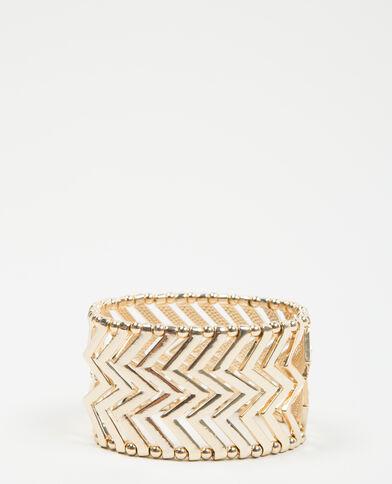 Bracciale zigzag dorato