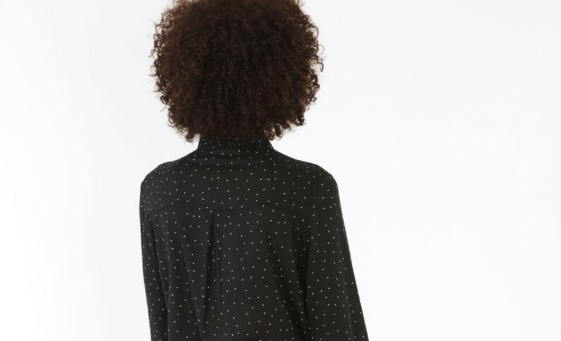 Camicia a pois nero