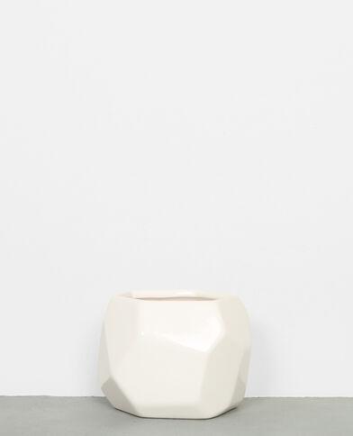 Petit pot à facettes blanc