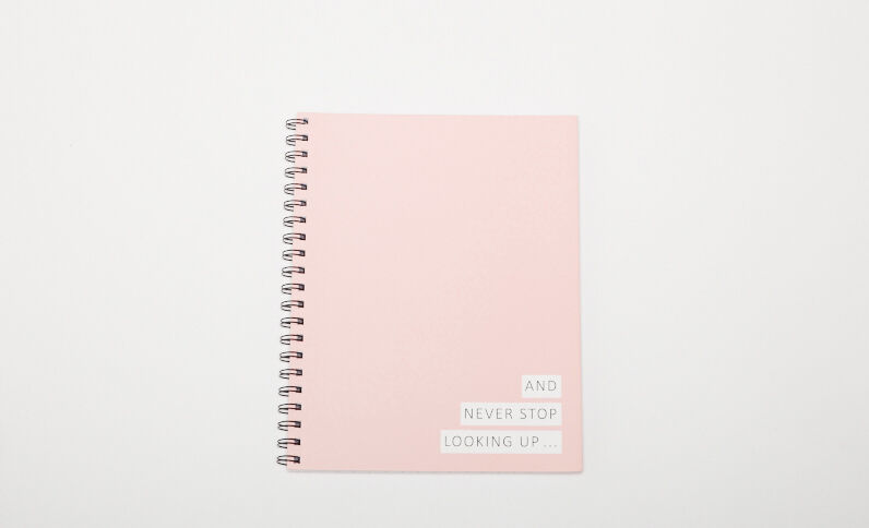 Grand notebook à spirales rose pâle