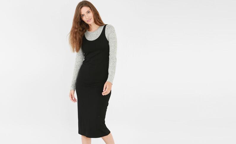 Lange basic jurk zwart