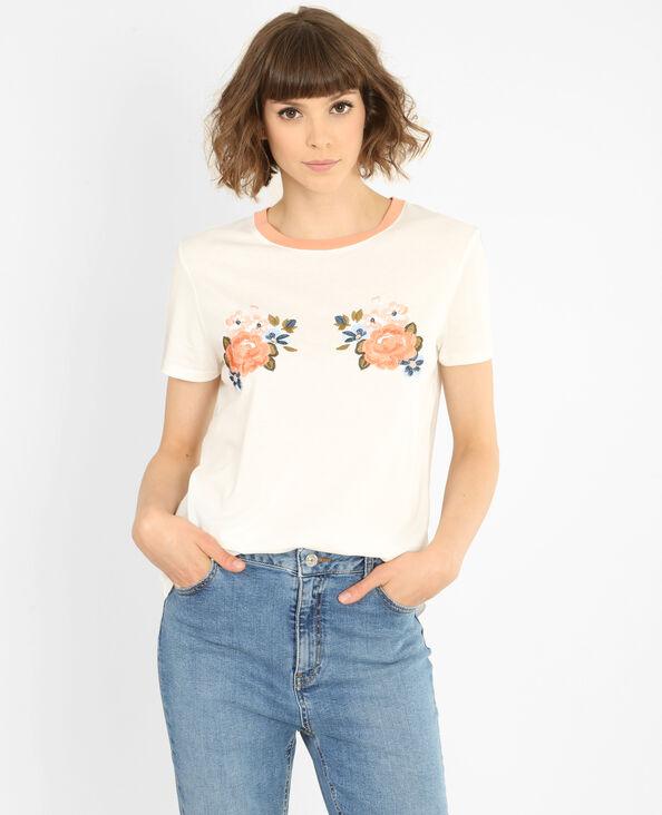 T-Shirt mit Message Altweiß