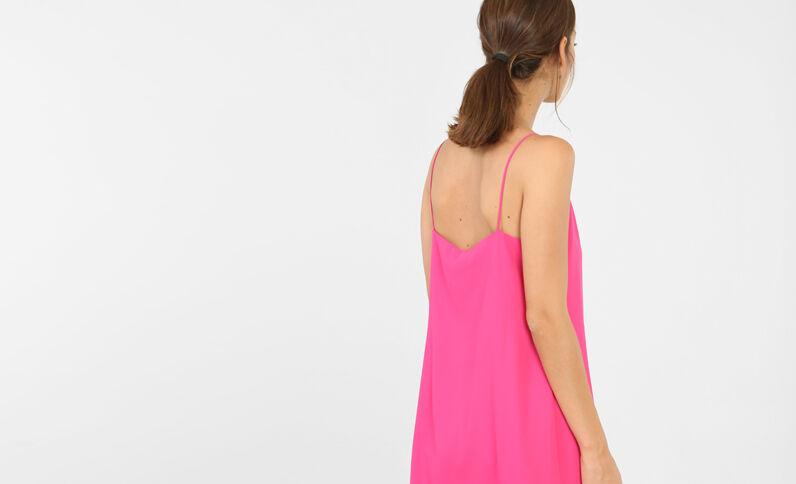 Gekruiste jurk roze