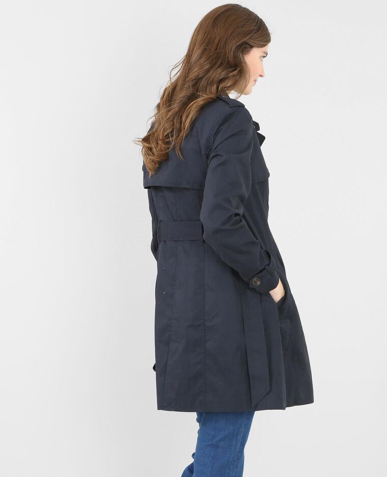 trench coat bleu marine 282032b03a06 pimkie. Black Bedroom Furniture Sets. Home Design Ideas