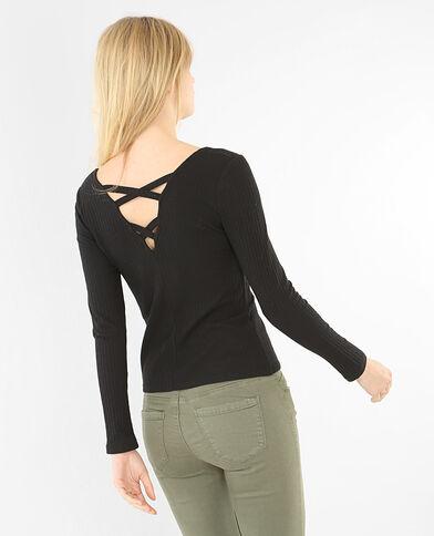 T-shirt incrociata sul dorso nero