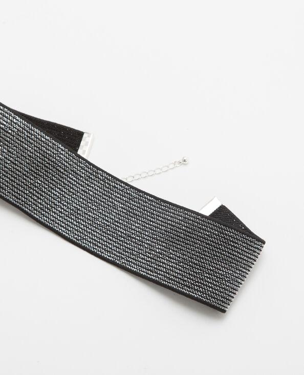 Large choker argenté gris argenté