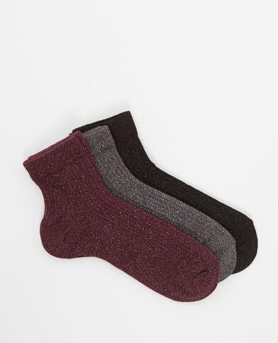 Set aus 3 Paar Socken Rosa
