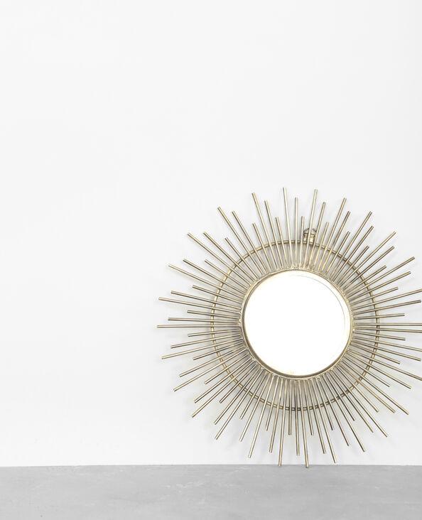 Piccolo specchio a forma di sole dorato