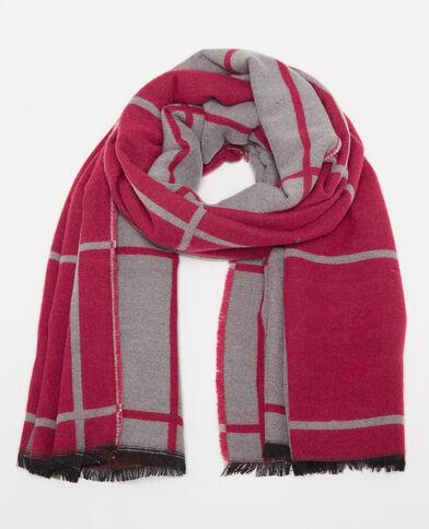 Zweifarbiger Schal Rosa