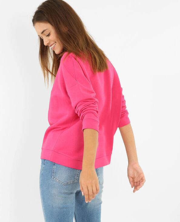 Sweatshirt mit Aufschrift Feminist Pink