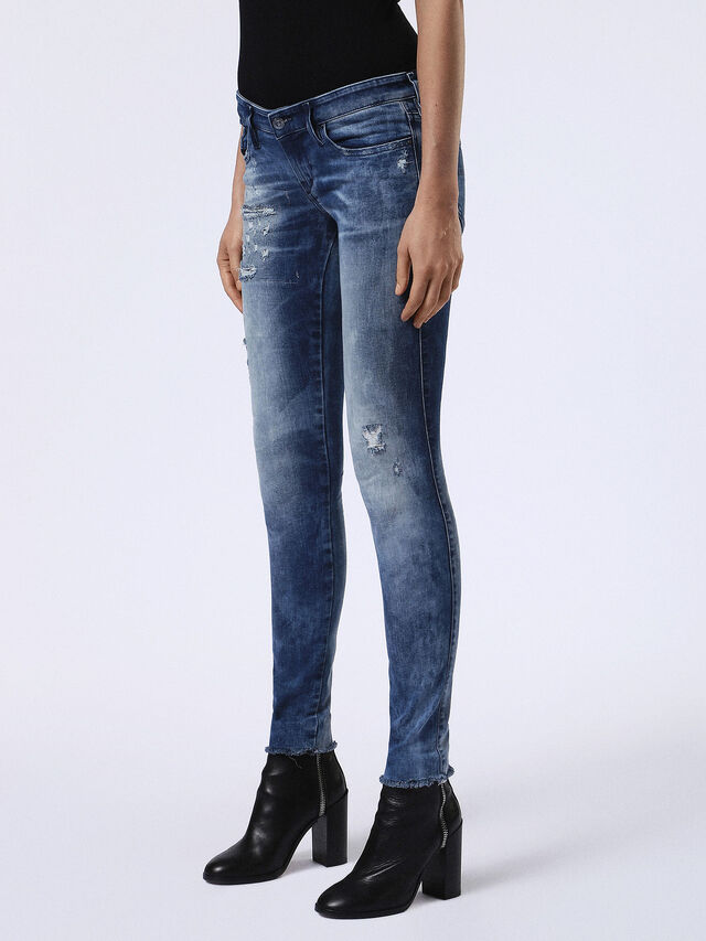 SKINZEE-LOW 084DH, Blue jeans