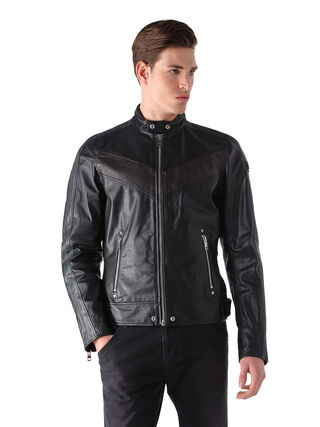 L-REED, Black leather