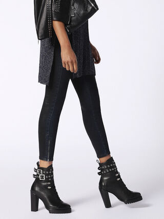 SKINZEE-LOW-ZIP 084MB, Black Jeans