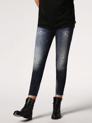 SKINZEE-ZIP 0684D, Blue jeans